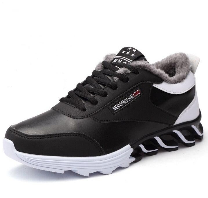 Mens Winter Boots Outdoor Waterproof Plus Velvet Warm Running Shoes for Men Sneakers Non-slip Jogging Trekking Walking Shoes