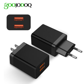 For iphone Eu Charger 2.4A Usb Wall Charger For Huawei Samsung Dual USB Charger Fast Charger Power Adapter For redmi note 7