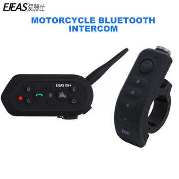 1200M EJEAS E6 Plus Motorcycle Intercom Communicator Bluetooth Helmet Interphone Headsets VOX with Remote Control for 6 Riders - DISCOUNT ITEM  20 OFF Automobiles & Motorcycles