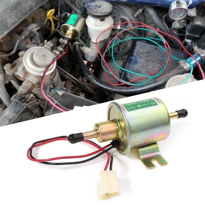 12 V pompe à carburant électrique basse pression boulon de fixation fil Diesel essence HEP-02A pour voiture carburateur moto ATV