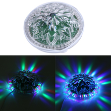 AC90-240V AUTO 8~12W RGB LED Stage Lighting Crystal Magic Diamond Ball Laser Light Disco DJ party DMX Stage Light