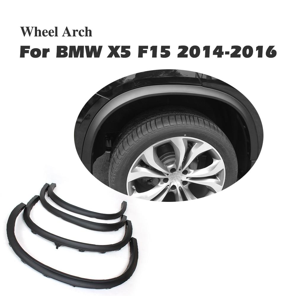 Car Wheel Arch Side Fender Flare Molding Trims For BMW F15 X5 2014-2016 PP Matt Black Car Styling car styling wheel eyebrow decorative wheel arch eyebrow stripe for ford kuga escape 2017 2018 car wheel modling trims