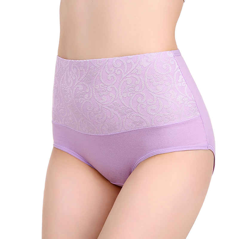 Buy OLN Women Cotton Underwear High Waist Breathable Lingeries Sexy Lace Panties fashion Briefs Plus Size XXXL