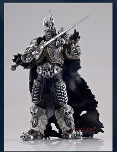 Image 1 - Famous Game Character WOW The Lich King Action Figure Fall of the Lich King Arthas Menethil 7 inch PVC Toy Figure Free shipping