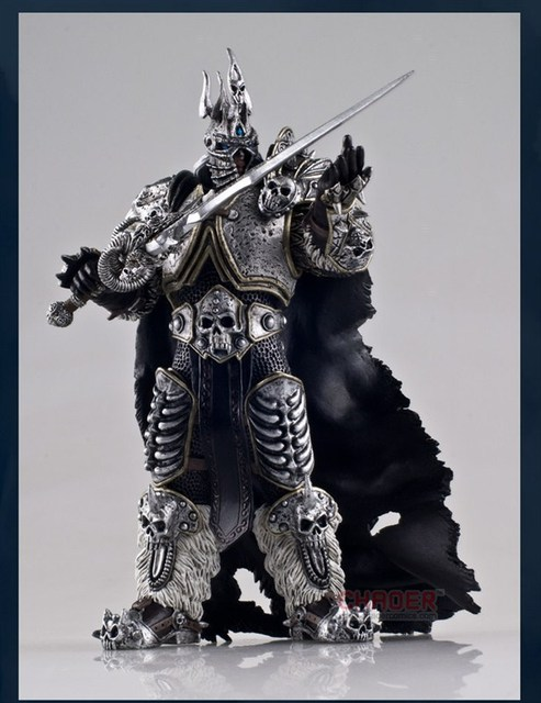 Famous Game Character WOW The Lich King Action Figure Fall of the Lich King Arthas Menethil 7 inch PVC Toy Figure Free shipping