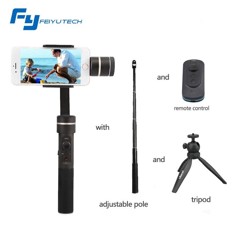 Nouveau résistant aux éclaboussures!!! FeiyuTech FY SPG cardan de poche 3 axes pour Smartphone iPhone/Xiaomi/Samsung GoPro HERO5 4 3 + Xiaoyi