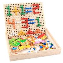 New Wooden Baby Toys Mushroom Nail Combination Educational