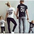 A família Roupas Combinando 2017 Algodão T-shirt Para Mon Filha Filho Pai Roupas Da Família Mãe Pai Do Bebê Outfits Olhar Família REI