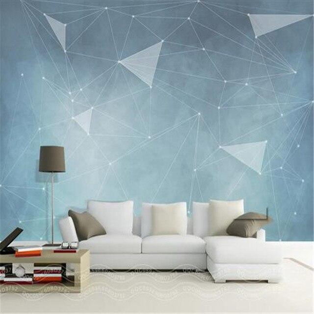Personnalise 3d Moderne Photo Murale Nordique Simple Abstraite