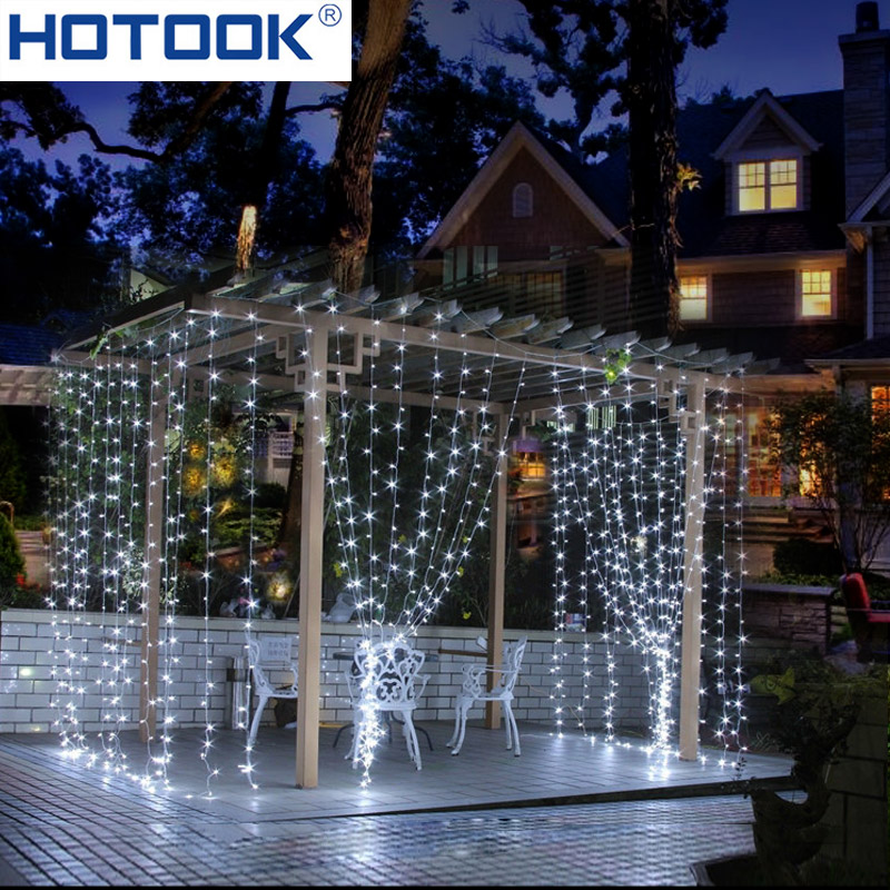 HOTOOK Holiday Lighting Jul LED Curtain String Fairy Lights IP65 4m - Ferie belysning - Foto 2