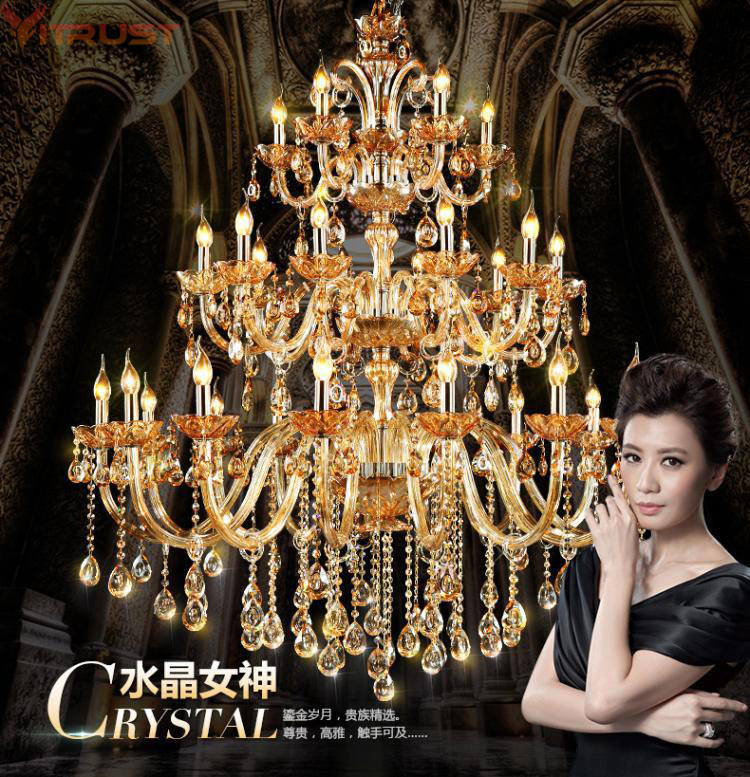 Vitrust Crystal Chandelier Lighting Fixture Lustres K9 Cristal Chandeliers Living Dining Room Dinner Bedroom Home 15 heads gold candle led fixture crystal hanging chandelier lighting hotel villa chandeliers living room k9 clear cristal lustre