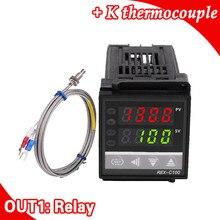 デュアルデジタルrkc pid温度コントローラrex c100でセンサー熱電対k、リレー出力