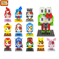 LOZ 14 Style Cosplay Hello Kitty Blocks Building Blocks MINI Diamond DIY 3D Bricks Toy Early Education Model Toys