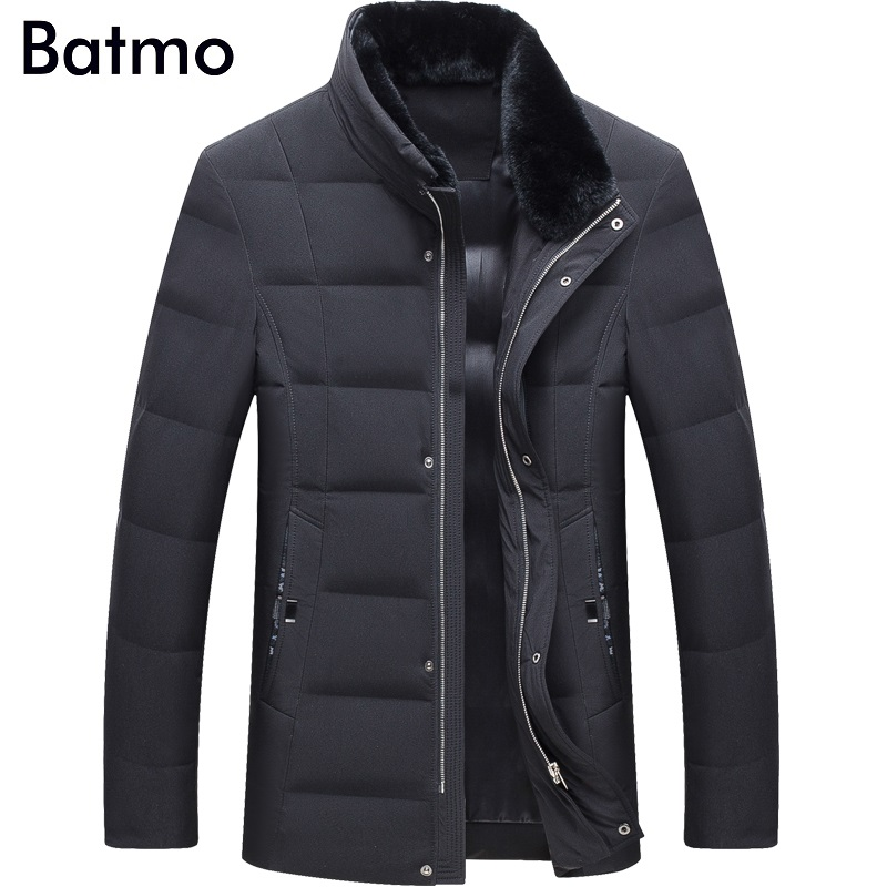Contemplative Batmo 2018 New Arrival Winter High Quality Warm 80% White Duck Down Fur Collars Jakcet Men,winter Coat Men,parka Men,17083 Down Jackets