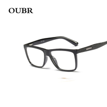 OUBR brand mens retro computer optical glasses frame TR90 simple lightweight ladies frosted design
