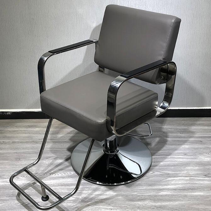 Hair salon barbershop chair hairdressing chair hairdressing chair hairdressing chair haircutting chair can rise and fall rotate