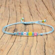 Shinus 5Pcs Miyuki Women Bracelets Ornament Colorful Flowers Beaded Bracelet Delica Beads Woven Jewelry