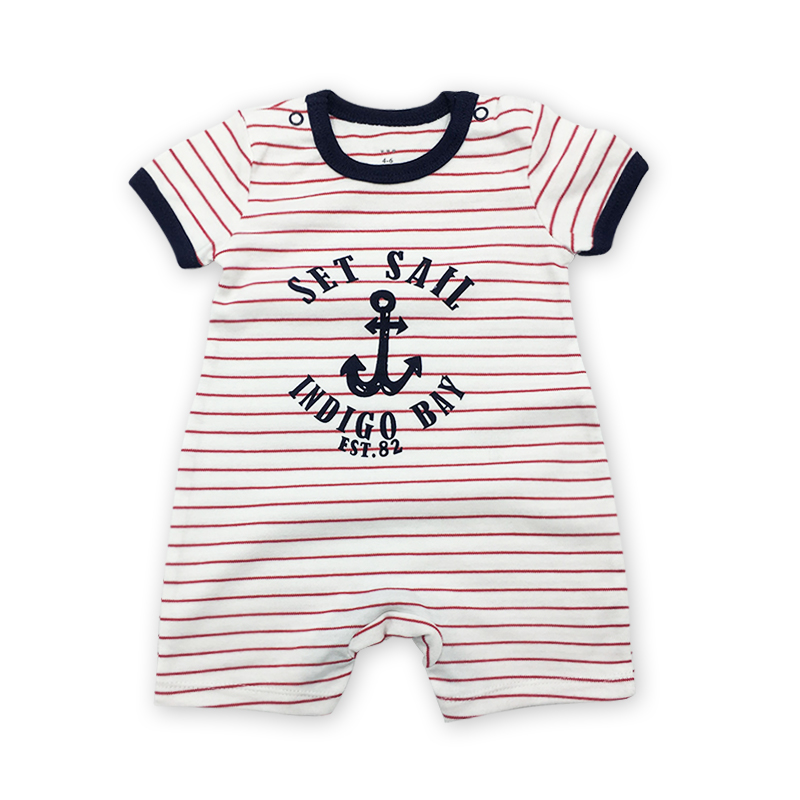 2018 mode babykleding baby romper grijs korte mouw cartoon jumpsuit - Babykleding - Foto 4
