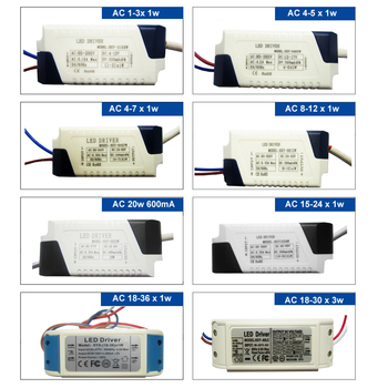 85-265Vac Power Supply 1w 3w 5w 7w 10w 20w 30w 36W 50w 100w LED Driver transformer non Waterproof for Ceiling Lamp Floodlight image