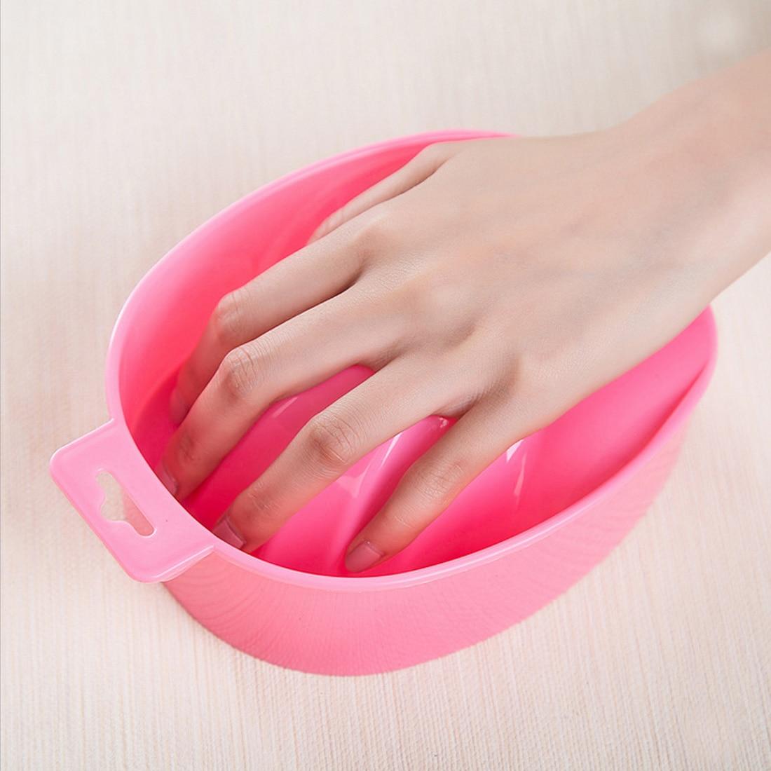 Top Pro 1pc Nail Art Hand Wash Dirty Remover Soak Bowl DIY Salon Nail S