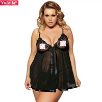 Yufeila Sexy Lingerie Women Erotic Babydolls Chemises Porn Sexy Transparen Costumes Sleepwear Good Quality Hot Lace Dress Sex
