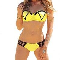 Sexy Bikini Padded Push Up Swimsuit Women Bohemian Bikini Set Plus Size Swimwear Female Beach 2016