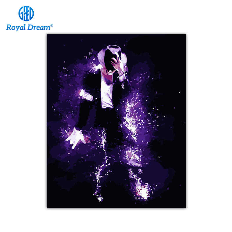 Michael Jackson Poster Handmade Painting By Numbers On Canvas Acrylic Paint by Number Kits Coloring By Number