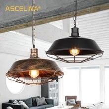 Colgante de luz de lámpara colgante industrial colgante retro luces lámpara colgante clásica americano lámpara de loft casa iluminación
