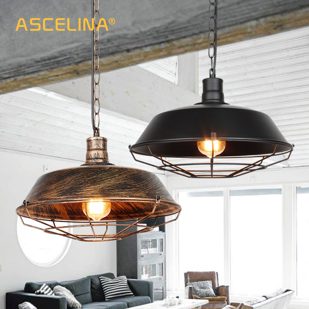 Pendant light industrial pendant light retro hanging lights vintage pendant lamp american loft pendant home lighting fixtures
