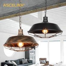купить Led lamp Loft Vintage industrial pendant light for Restaurant/Cafe/Bar/Home Especial creative lamp Chain Pendant Lamp Black/Rust по цене 1729.23 рублей