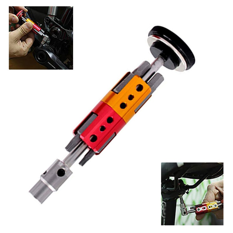 11*3cm Portable Black Bicycle Repair Tool Six Angle Hidden Type Multifunction Accessory New