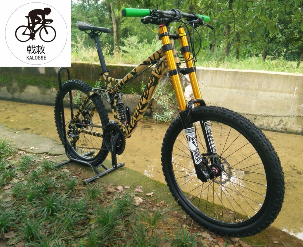 Kalosse Mountain-Bike Suspension Bicycle Dh Bike Downhill Hydraulic-Brakes 26er-Wheels title=