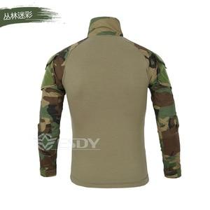 Image 5 - 2020 exército dos eua tático militar uniforme airsoft camuflagem combate camisas comprovadas assalto rápido manga longa camisa batalha greve