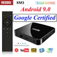 Mecool KM3 ATV Google Certified Smart TV Box Android 9.0 TV Box S905x2 Double wifi with 4K HDR Android TV Streaming Media Player