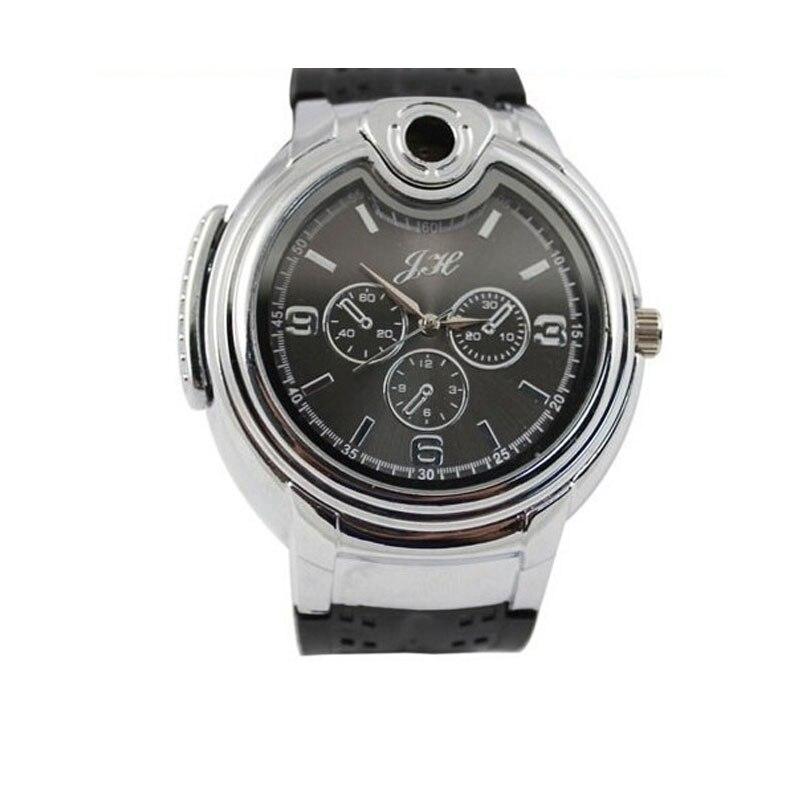 Esencial caliente alta calidad nueva militar reloj encendedor hombres cuarzo butano recargables Gas cigarro relojes Jan17