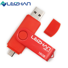 LEIZHAN 2017 Real Capacity The OTG Phone USB Flash Drive 64gb Smartphone Pen Drive Pendrives Computer Memory Stick 4/8/16/32gb
