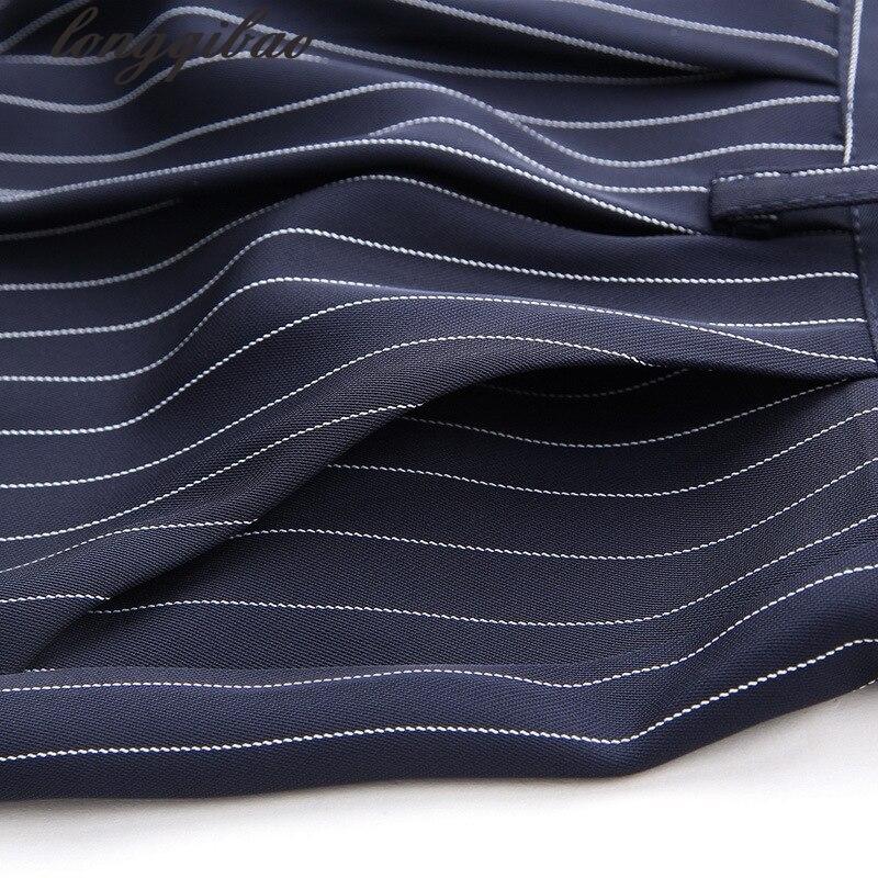 Lâche 4 Tops Manches Haute Nouveau Mode 3 De Ensemble Pantalon 1 Rayures 2017 En Femmes Qualité Automne 2 Pièces À Al Élégant Deux Et Printemps Longues 5 4Zwq47