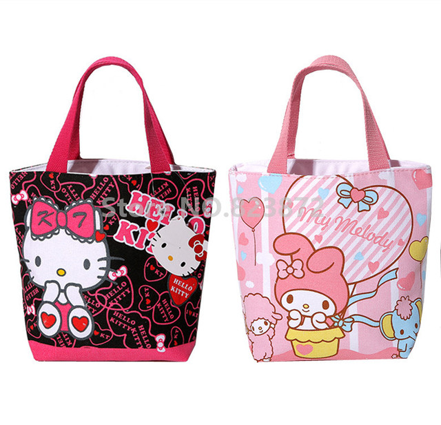 Cute O Kitty My Melody Small Tote Lunch Bag For Kids S Kawaii Mini Cartoon