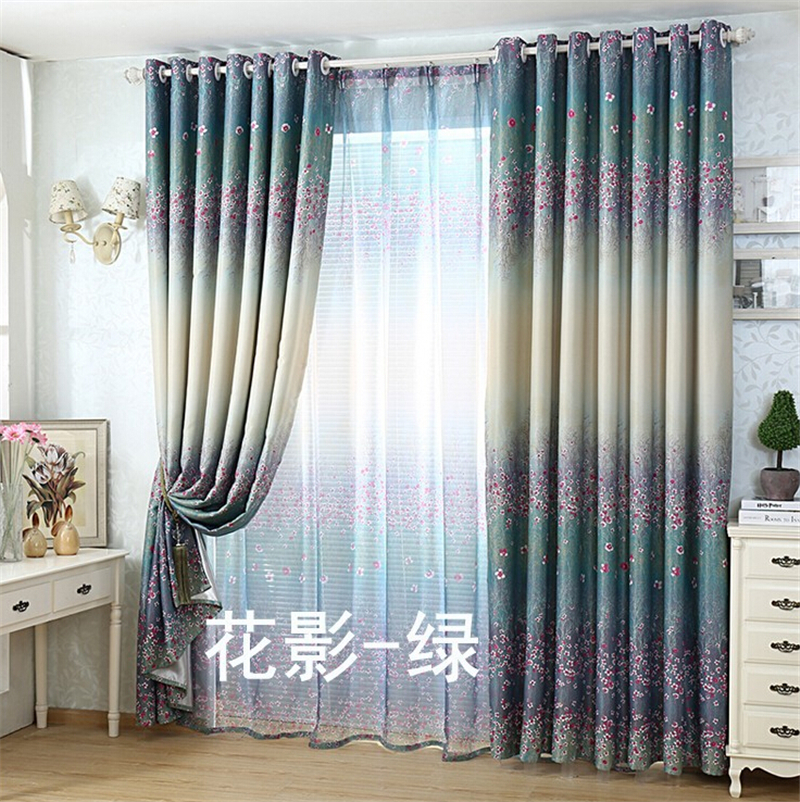 New Pastoral Curtain Bedroom Curtains Simple Custom Living
