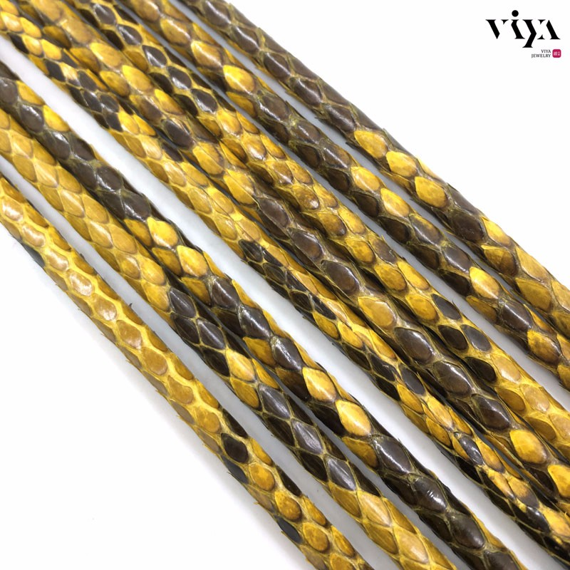Glossy-yellow-Python-Skin-Leather-Cord-Available-Diameter-4-mm-5-mm-6-mm-(7)