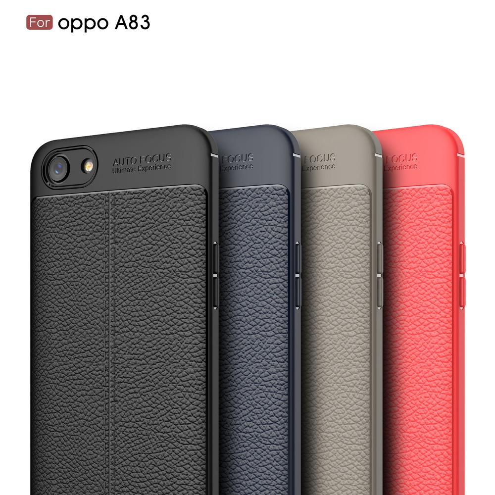 Luxury Case For OPPO A83 Litchi Leather Soft TPU Silicone Phone Case For Oppo A83
