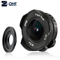 NEW 8mm F3.8 Fish eye C mount Wide Angle Fisheye Lens Focal length Fish eye Lens Suit For Canon EOS M M2 M3 M5 M6 M10 Mirrorless