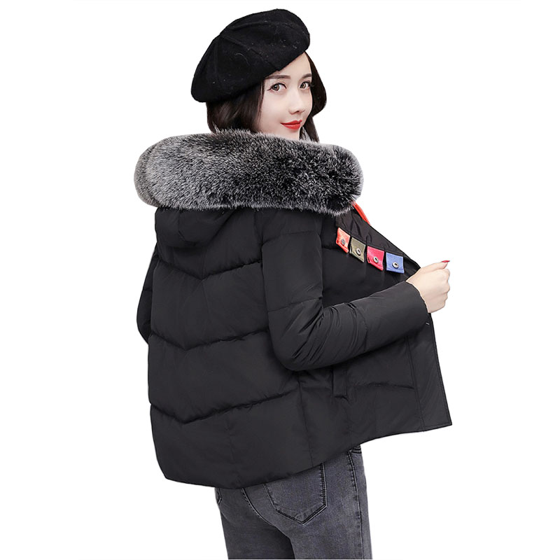 Winter new Hooded Jacket Women Cotton Warm Coat 2017 Short Slim Parkas Ladies Plus Size Fur Collar Snow Casual Jackets 3L91 short down cotton jackets winter women thick warm coat new fashion hooded fur collar outerwear plus size slim parkas okxgnz a336