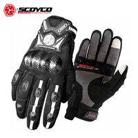 SCOYCO Men S Motorcycle Gloves Motocross Off Road Racing Gloves Carbon Fiber Protection Shell Motorbike Moto