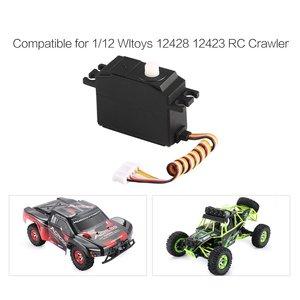 Image 4 - Servo de plástico para direção, 25g servo, volante, para 1/12 wltoys 12428 12423 rc carro caminhão, modelo, acessórios de peça de direção, micro servo rc