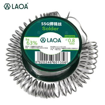 Drut lutowniczy LAOA 63 zawartość cyny lutowany 0 8mm knot rdzeń żywiczny cyna drut lutowniczy s topnik do spawania tanie i dobre opinie welding LA812608 183-190 Degree