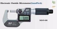 IP65 Водонепроницаемая цифровая Вне микрометр 2 мм Шаг Винт для быстрого измерения 0 25 мм 0,001 мм 142 01 436 25 50 мм 50 75