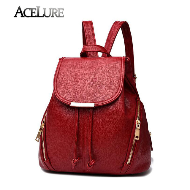 Women Stylish Backpacks Ladies Pu Leather Backpack Solid School Bags for Teenage Girls Female High Quality Backpack Travel Bags