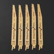 5 قطعة/الوحدة 8 بوصة BIM الترددية قطع سريعة شفرة المنشار S3456XF للمعادن الخشب قطع Whosale و دروبشيب