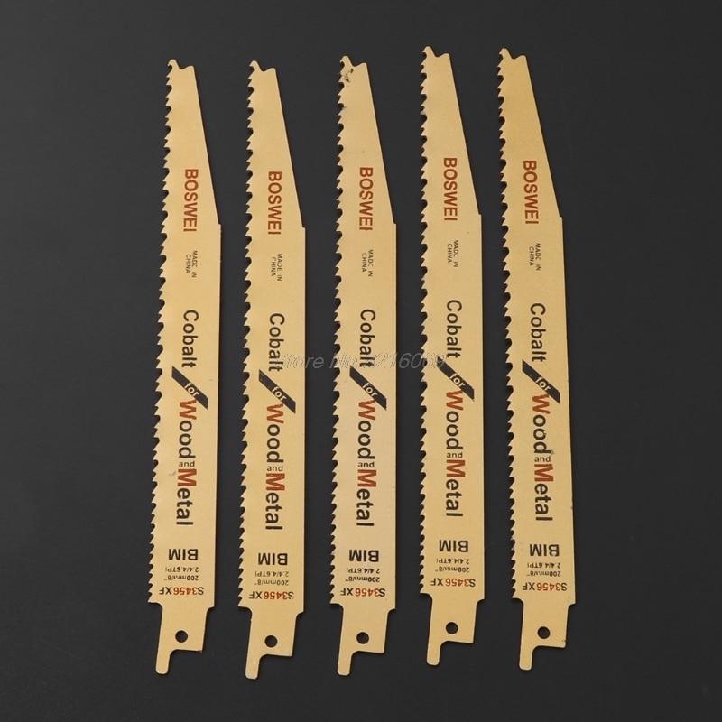 5Pc/Lot 8 Inch BIM Reciprocating Quick Cut Saw Blade S3456XF For Metal Wood Cutting Whosale&Dropship